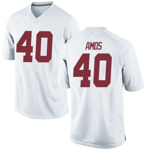 Giles Amos Nike Alabama Crimson Tide Men's Game Football College Jersey - White