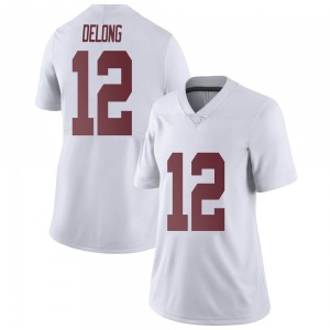 Skyler DeLong Nike Alabama Crimson Tide Women's Limited Football College Jersey - White