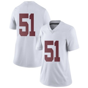 Wes Baumhower Nike Alabama Crimson Tide Women's Limited Football College Jersey - White