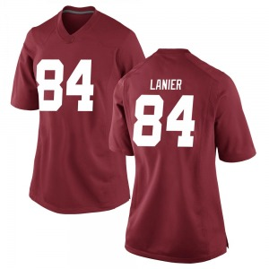 Women's Joshua Lanier Nike Alabama Crimson Tide Women's Replica Crimson Football College Jersey