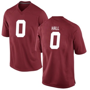 Youth Donta Hall Nike Alabama Crimson Tide Youth Replica Crimson Football College Jersey